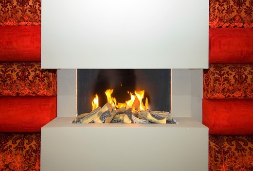 Open fireplace : Stock Photo