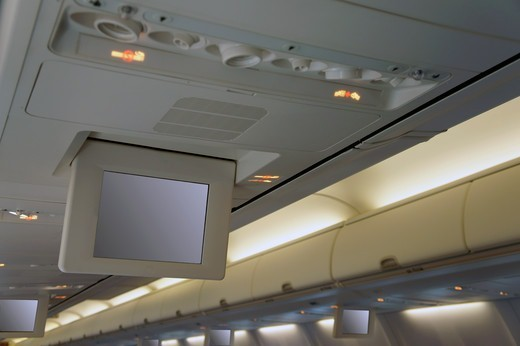 An aircraft cabin roof : Stock Photo