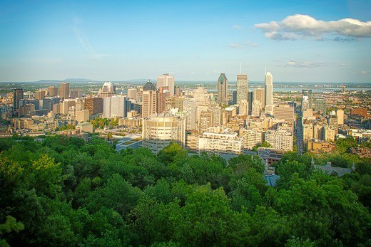 Cityscape of Montreal : Stock Photo