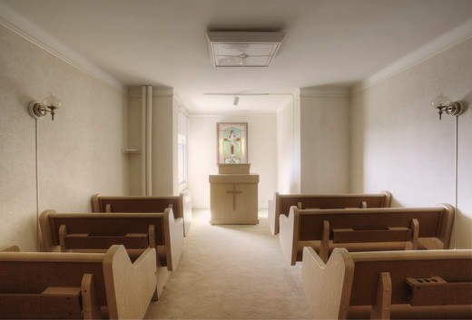 A chapel in a residential house, Des Moines, Washington, USA : Stock Photo