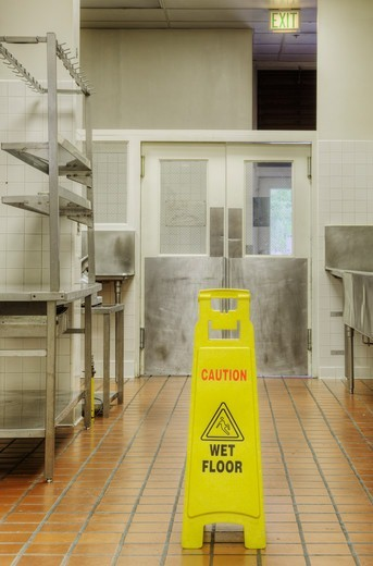 Commercial kitchen, historic Masonic Retirement Centre, Des Moines, USA : Stock Photo