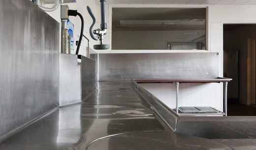 Dishwashing Station, Masonic Retirement Centre, Des Moines, USA : Stock Photo