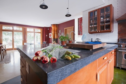 Kitchen in home in North Vancouver, Canada : Stock Photo