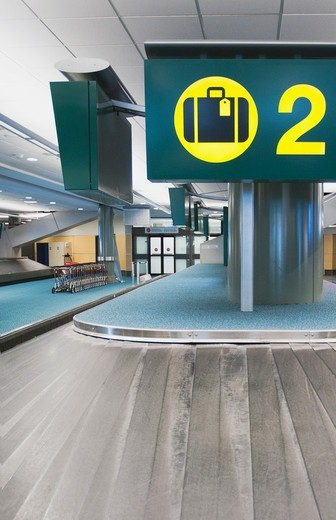 Vancouver Airport baggage claim area. : Stock Photo