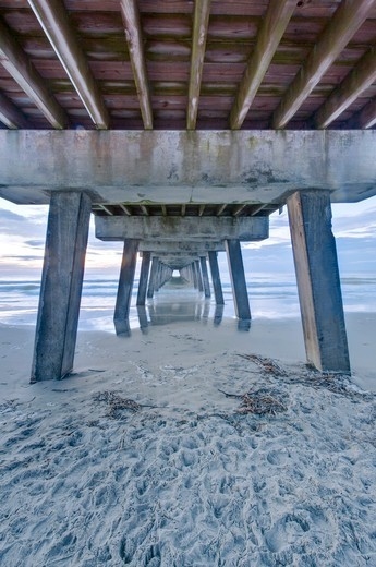 Tybee Pier at Dawn : Stock Photo