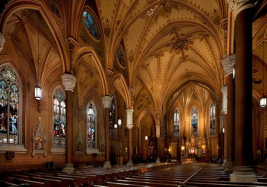 Rochester, New York, USA. St. Michael's Church : Stock Photo