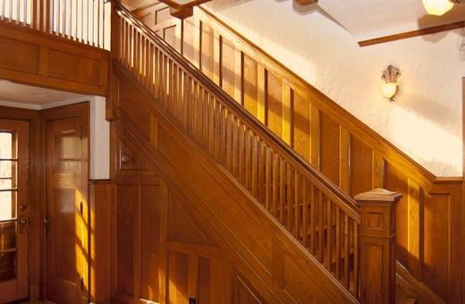 Oak Staircase : Stock Photo