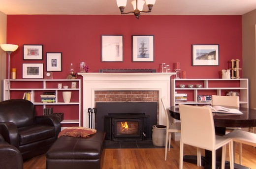 A home, kitchen and sitting room. : Stock Photo