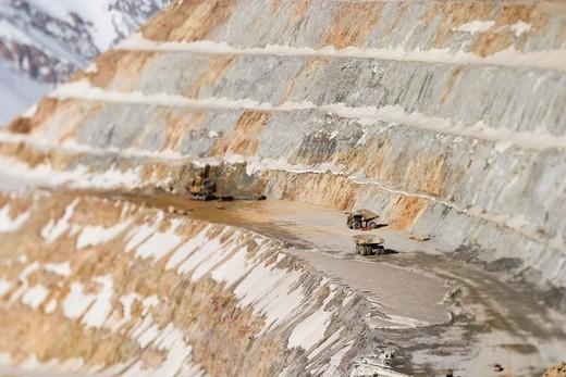 Los Pelambres copper mine, Chile : Stock Photo
