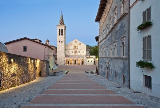 Cathedral, Duomo of Santa Maria Assunta, Spoleto, Italy : Stock Photo