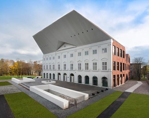 Narva College at Tartu University in Estonia : Stock Photo