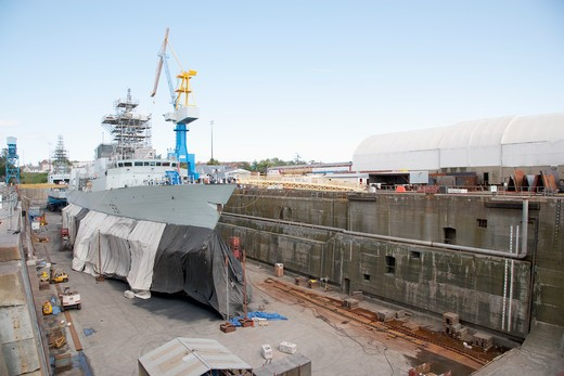 Ship Construction : Stock Photo