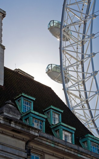 Building with Ferris Wheel : Stock Photo