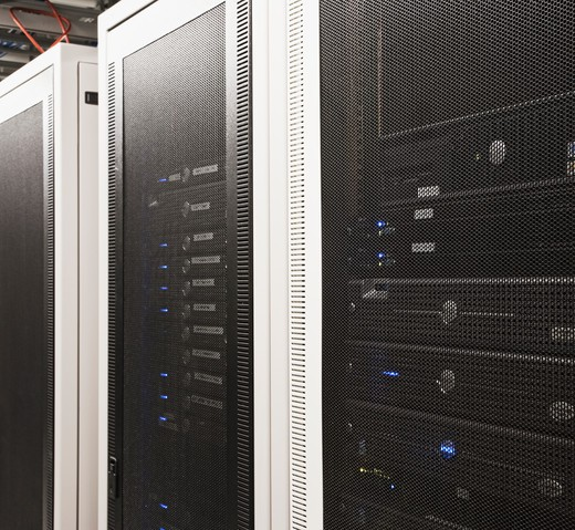 Multiple Servers in Housing Units : Stock Photo