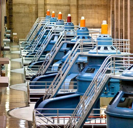 Row of Large Turbines : Stock Photo