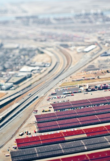 Aerial View of Industrial Area : Stock Photo