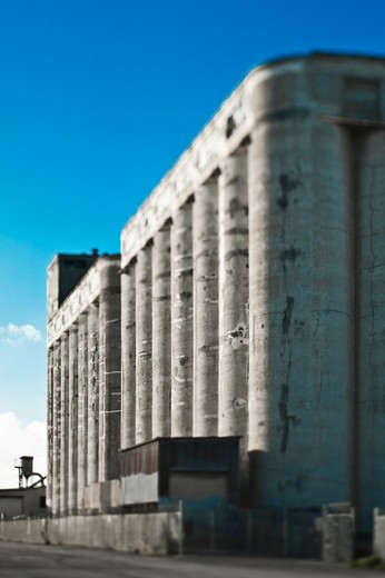 Industrial Building With Storage Tanks : Stock Photo