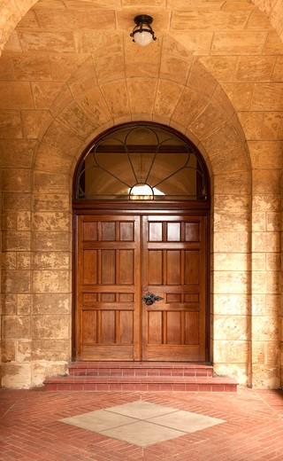 Doorway into Building : Stock Photo