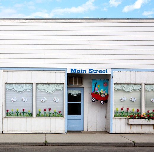 Building on Main Street, Palouse, Washington : Stock Photo