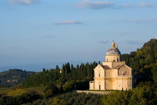 Church of Madonna di San Biagio, Montepulciano, Tuscany, Italy : Stock Photo