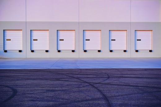 Distribution Center Bay Doors : Stock Photo