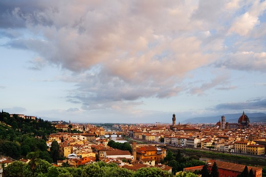 Downtown Florence at Sunrise : Stock Photo
