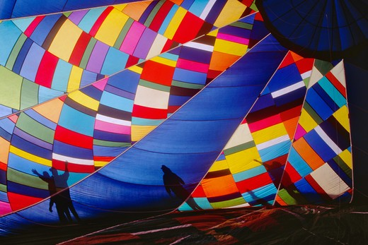 Inflating a Hot Air Balloon : Stock Photo