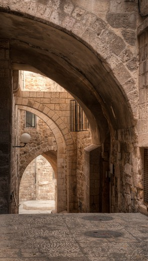 Alley In Jerusalem : Stock Photo