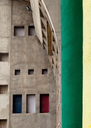 Stone Apartment Exterior : Stock Photo