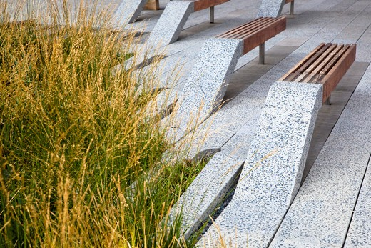 Abstract Park Benches : Stock Photo