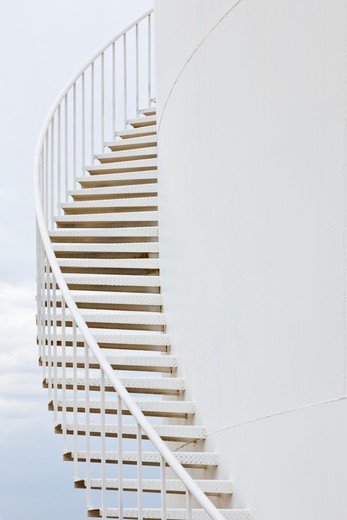 Stairs on a Water Storage Tank : Stock Photo