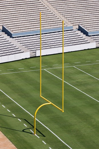 Football Field End Zone : Stock Photo