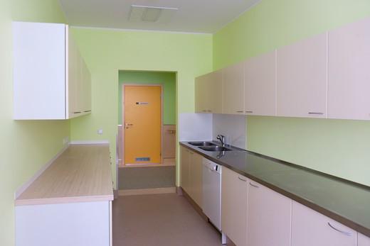 Empty Hospital Kitchen : Stock Photo