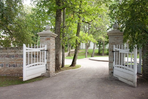 Open Gates to the Palmse Manor : Stock Photo
