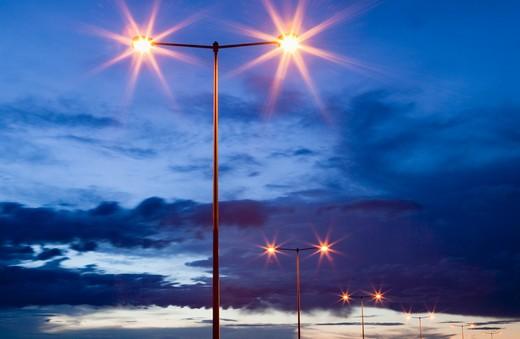 Street Lights at Dusk : Stock Photo