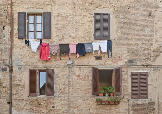 Laundry Out to Dry : Stock Photo