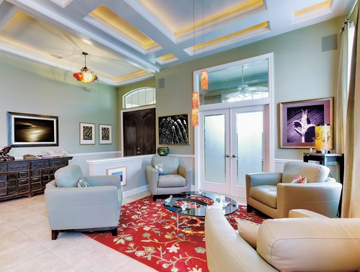 St. Petersburg, Florida, United States , Luxury Sitting Room : Stock Photo