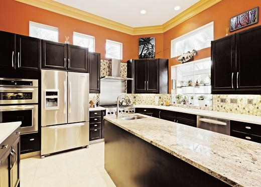 St. Petersburg, Florida, United States , Modern Kitchen Interior : Stock Photo