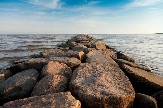 Estonia , Rock Pier : Stock Photo