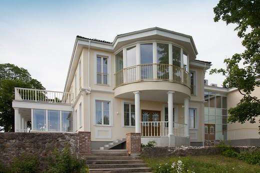 Estonia , Large House on Estate : Stock Photo