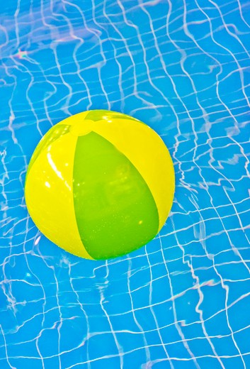 Vancouver, British Columbia, Canada , Beach Ball in a Swimming Pool : Stock Photo