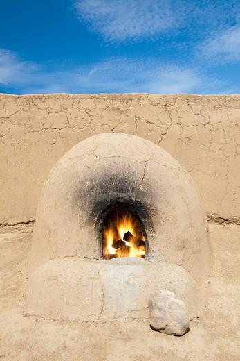 Taos, New Mexico, USA , Adobe Oven : Stock Photo