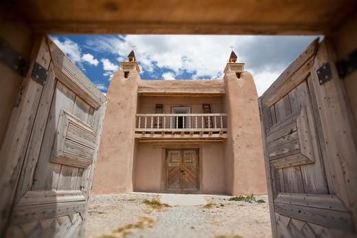 Las Trampas, New Mexico, USA , Historic Southwestern Church : Stock Photo