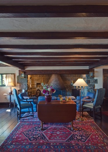 Salt Spring Island, BC, Canada , Hastings House Lounge : Stock Photo