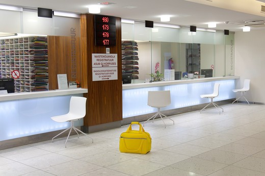 registry office, Tartu University Hospital, Estonia : Stock Photo