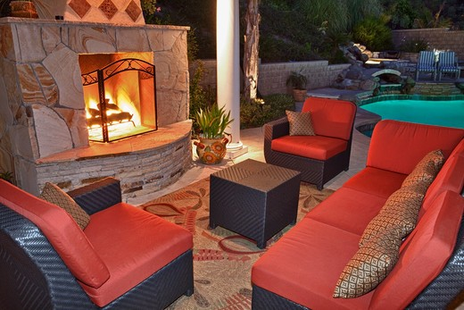 Outdoor Patio Living Space : Stock Photo