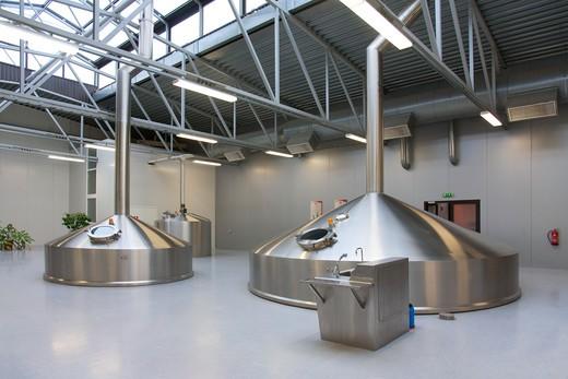 A modern working brewery in Estonia : Stock Photo