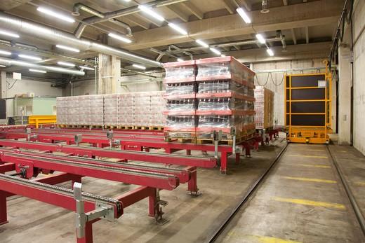 A modern brewery warehouse in Estonia : Stock Photo