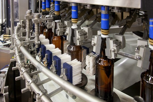 A brewery and bottling plant in Estonia : Stock Photo