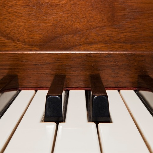 Close up of piano keys : Stock Photo